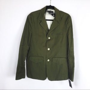 Howe Duffer Men's Green Slim Fit 3 Buttons Blazer